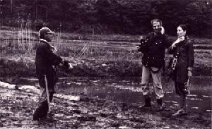 Yann Le Masson et Bénie Deswarte sur le tournage de Kashima Paradise