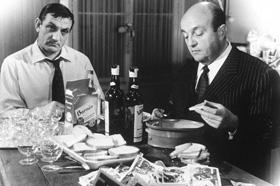 Lino Ventura et Bernard Blier dans Les Tontons flingueurs