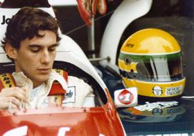 Ayrton Senna au volant de sa formule 1 (c) Angelo Orsi