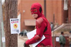 """Beware Crime"", Crimson Bolt aka Rainn Wilson"