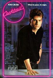 Affiche du film Cocktail avec Tom Cruise.