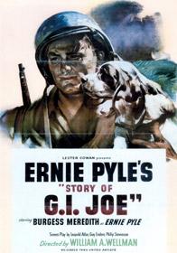 Affiche originale de The Story of G.I. Joe, d'après les carnets d'Ernie Pyle