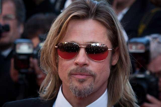 Brad Pitt dguis en Ken, Cannes 2012