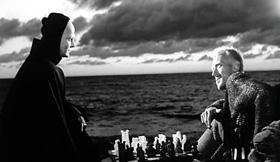 Scène d'échecs du Septième Sceau, d'Ingmar Bergman