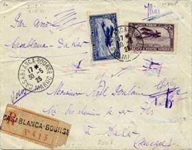 Une lettre de l'Aéropostale Casablanca-Dakar