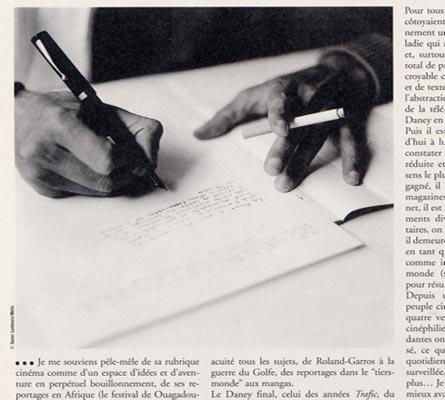 L'écriture et les mains de Serge Daney
