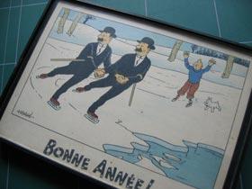 Une carte postale Tintin