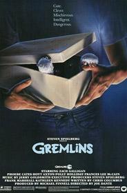 L'affiche originale de Gremlins, de Joe Dante