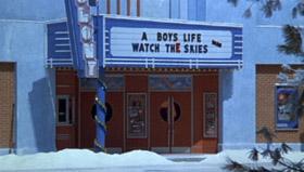 Le cinéma de Kingston Falls passe A Boy's Life... aka E.T.