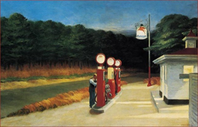 Gas, Edward Hopper