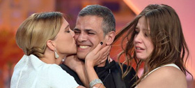 Abdellatif Kechiche et ses deux actrices, lauréats de la Palme d'or 2013