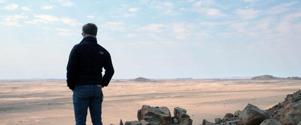 Le désert de Namibie, repérages du film Zulu
