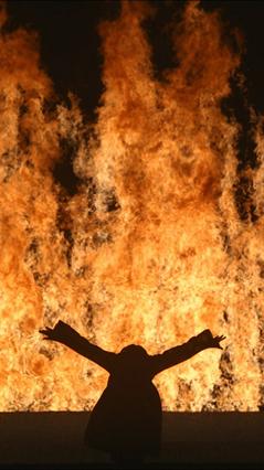 Fire woman de Bill Viola