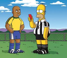 Homer Simpson joue les arbitres