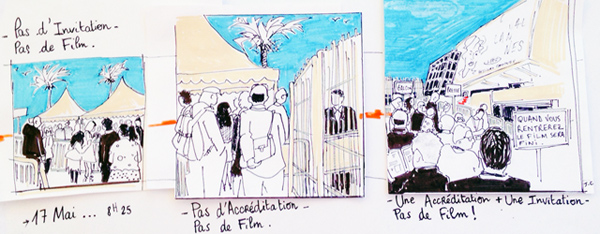 Les dessins de Johanne à Cannes