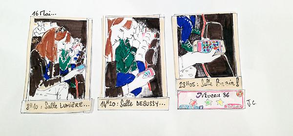 Les dessins de Johanne Carpentier à Cannes